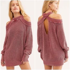 nwt // free people half moon bay pullover sweater